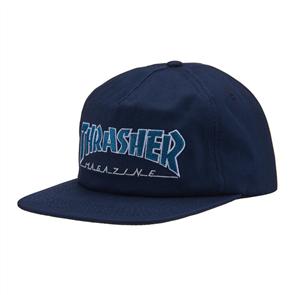 Thrasher Outlined Snapback, Navy Grey