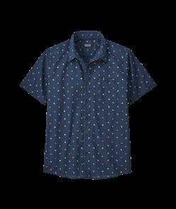 Patagonia Go To Shirt, Glasspine Micro/Stone Blue