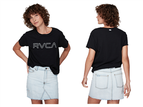 RVCA Keyline Rvca Box Tee, Black