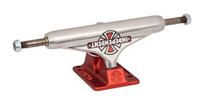 Independent 144  VINTAGE CROSS SILVER RED - HOLLOW TRUCKS