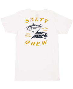 Salty Crew Double Down Premium Short Sleeve Tee, White