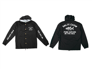 Salty Crew Vandal Snap Jacket, Black