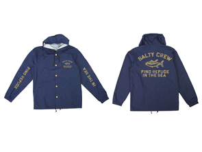 Salty Crew Vandal Snap Jacket, Navy