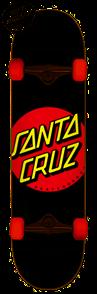 Santa Cruz CLASSIC DOT SUPER MICRO COMPLETE SKATEBOARD, 7.25