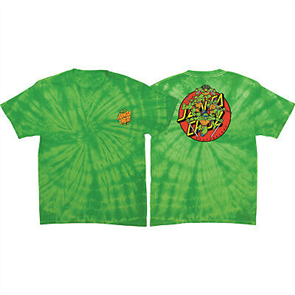 Santa Cruz Limited Edition Ninja Turtles Youth Tee, Tie Dye Lime