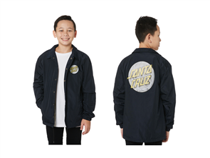 Santa Cruz Coiled Dot Coaches Jacket - Youth, Storm