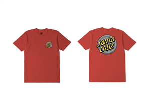 Santa Cruz Coiled Dot Tee - Youth, Chilli
