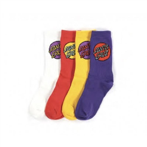 Santa Cruz Cruz Pop Youth Sock 4Pairs S18, Assorted