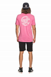 Santa Cruz Original Dot Tee, Echo Pink
