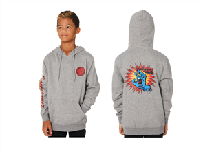 Santa Cruz The Screaming Hand POP Pull Over Hood - Youth, Grey Heather