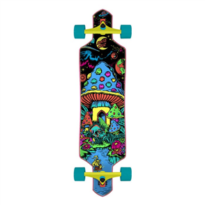 Santa Cruz Time Warp Skate Cruzer Drop Complete 9.0 x 36