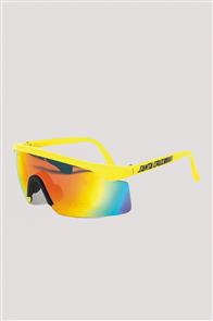 Santa Cruz Wrap Shades Sunglasses, Frozen Yellow