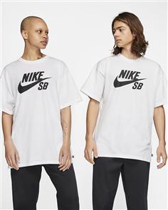 Nike SB Logo Tee, White/Black