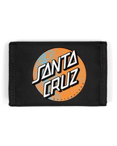 Santa Cruz SNAKE DOT VELCRO WALLET, BLACK