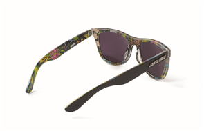 Santa Cruz Slimeballs Shades Sunglasses, Black Blue