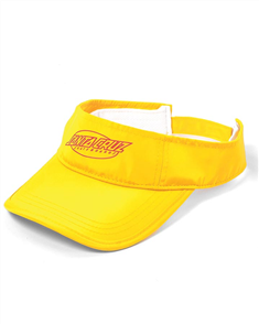 Santa Cruz Oval Strip Visor, Hot Yellow