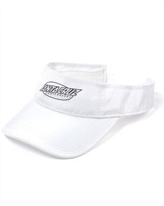 Santa Cruz Oval Strip Visor, White