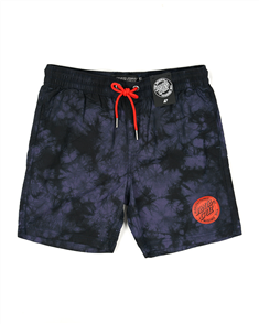 Santa Cruz ORIGINAL DOT ELASTIC WAIST SHORT-YOUTH, NAVY TIE DYE