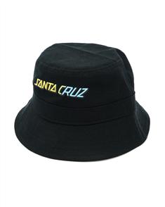 Santa Cruz STRIP FADE BUCKET HAT-YOUTH, BLACK