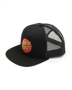 Santa Cruz CLASSIC DOT YOUTH TRUCKER, BLACK