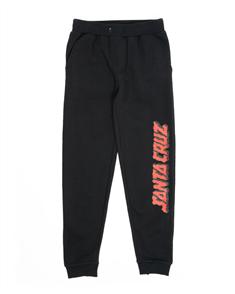 Santa Cruz DEPTH STRIP FLEECE YOUTH PANT, BLACK