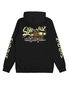 Santa Cruz WOLF SLASHER GLOW POP HOOD-YOUTH, BLACK