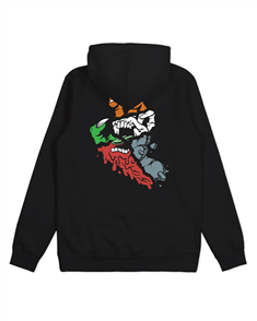 Santa Cruz UNVIERSAL HAND POP HOOD-YOUTH, BLACK