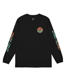 Santa Cruz ORIGINAL DOT FADE LS TEE-YOUTH, BLACK