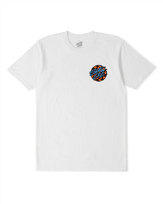 Santa Cruz BURNDOWN DOT TEE-YOUTH, WHITE