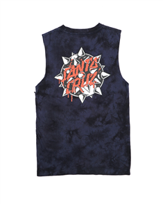 Santa Cruz MACE DOT TD MUSCLE SINGLET-YOUTH, NAVY TIE DYE