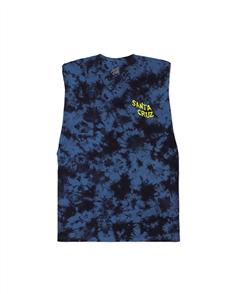 Santa Cruz Screamer Muscle Singlet - Youth, Blue Tye Dye