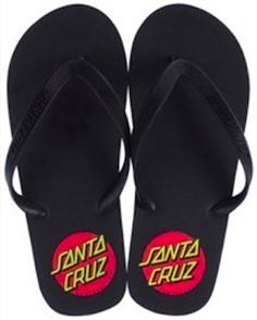 Santa Cruz Classic Dot Flip Flop Mens Classic Dot Flip Flop