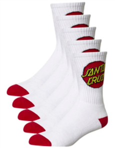 Santa Cruz Cruz Youth (Sizing 2-8) Sock 4 Pair Pack Cruz Youth Sock 4Prw