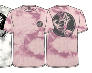 Santa Cruz Handled Tie Dye Tee, Echo Pink