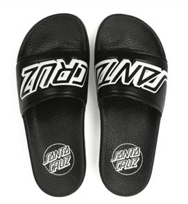 Santa Cruz Classic Strip Slide Sandal, Black Black, Mens US Size 7