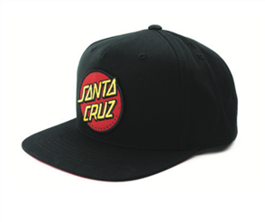 Santa Cruz Classic Patch Cap, Black