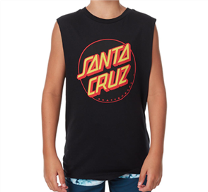 Santa Cruz Other Dot Youth Muscle, Black