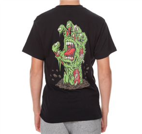 Santa Cruz Walking Hand Youth Tee, Black