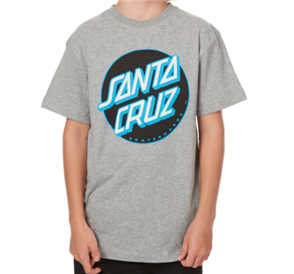 Santa Cruz Other Dot Youth Tee, Grey Heather