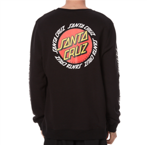 Santa Cruz Ringed Dot Crew, Black