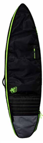 Creatures Of Leisure Shortboard Double 10mm Foam Bag, Charcoal Lime