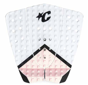 Creatures Of Leisure Stephanie Gilmore Tail Grip Pad, White Pink