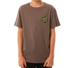 Santa Cruz Bug Dot Youth Short Sleeve Tee, Ovcercast