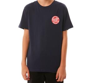 Santa Cruz Original Dot Fill Short Sleeve Youth Tee, Navy