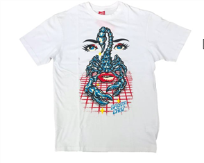 Santa Cruz Danger Zone Tee, White