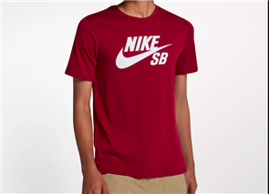 Nike SB Short Sleeve T Shirt SB Logo, Red