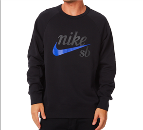 Nike SB Icon Logo Crew Sweat, Black