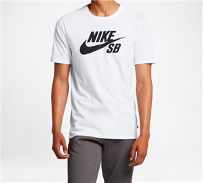 Nike SB Short Sleeve T Shirt SB Logo, White
