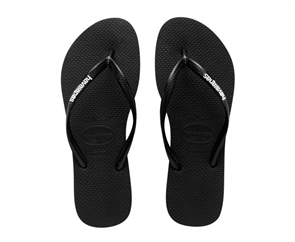 Havaianas Slim Logo Pop-Up, Black/White