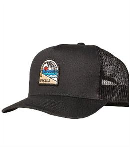 Vissla Solid Sets Eco Trucker Hat, Black